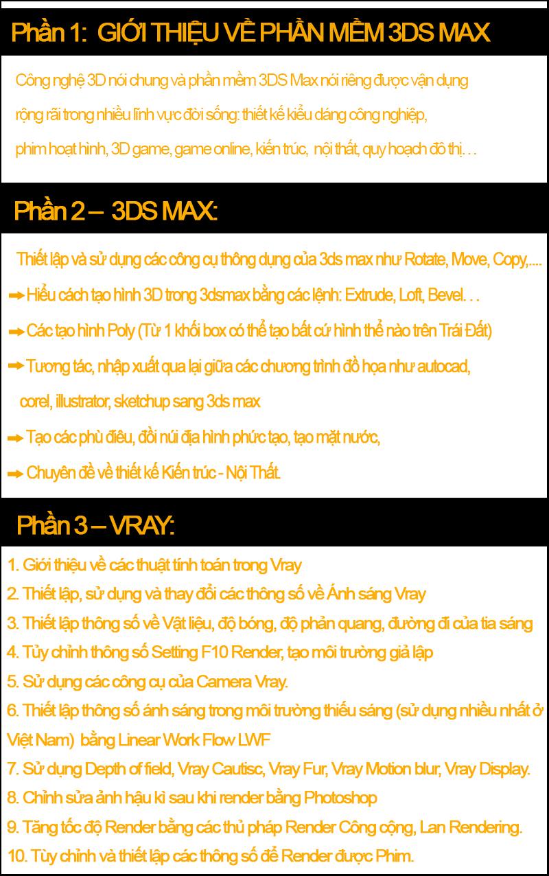 Khóa học 3Ds max tại Phú Nhuận